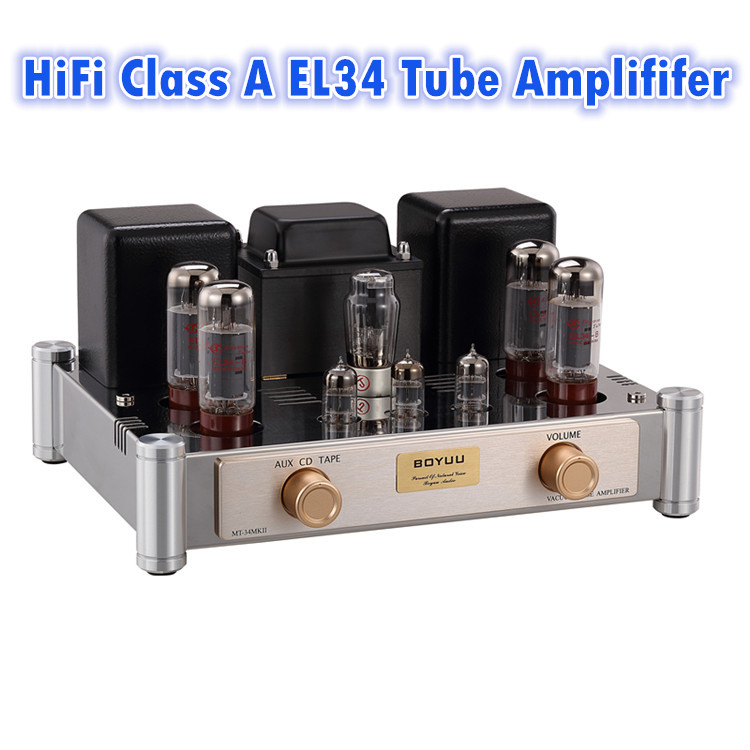 2018 Lastest Nobsound Hi-end Stereo EL34 Vacuum Tube Amplifier HiFi Push-pull Integrated Class A Power Amp 2*35W music hall latest muzishare x5 hifi push pull el34 vacuum tube integrated amplifier headphone power amp 35w 2