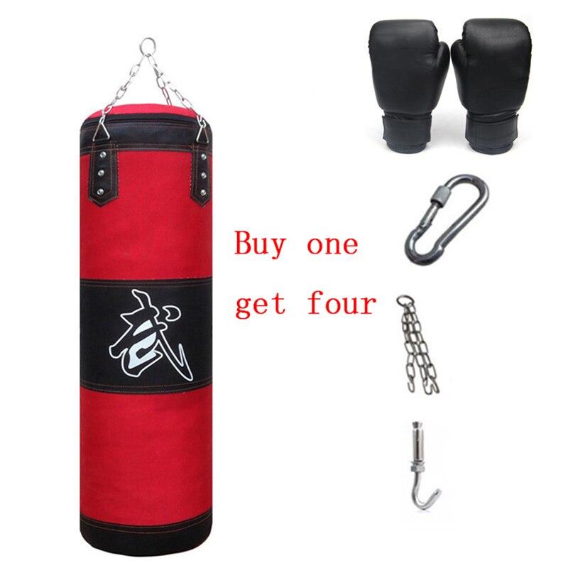 Combattant Kit Poinçonnage Sac 60 cm-120 cm Remise En Forme De Boxe MMA Sac Lourd Faisceau Art Martial Muay Thai Équipement formation Ensemble Gants Crochet