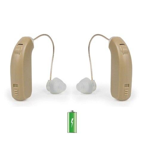 usb recarregavel bte aparelho auditivo para os idosos senior esquerda direita perda auditiva amplificador de
