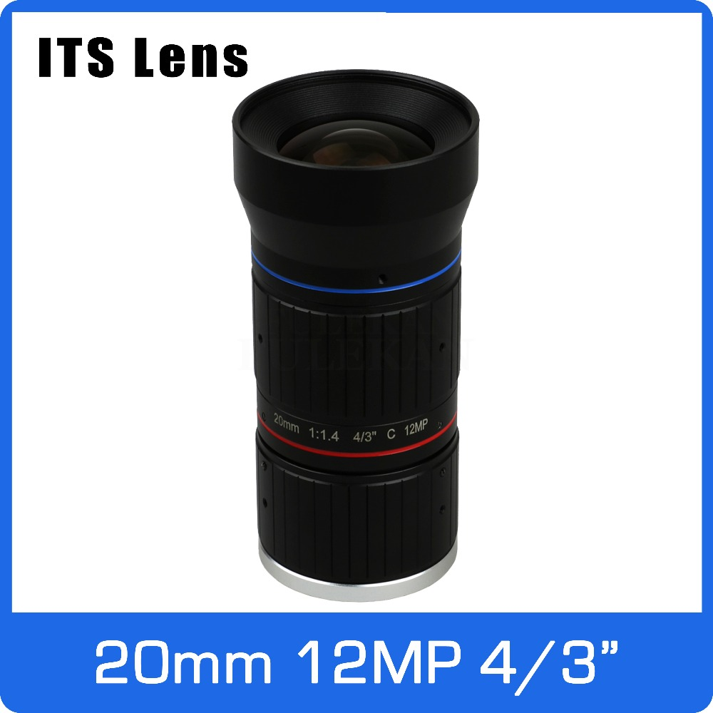 4/3 inch 12MP ITS Ultra 4K Lens 20mm Starlight F1.4 C Mount For Electronic Police or Traffic Camera4/3 inch 12MP ITS Ultra 4K Lens 20mm Starlight F1.4 C Mount For Electronic Police or Traffic Camera