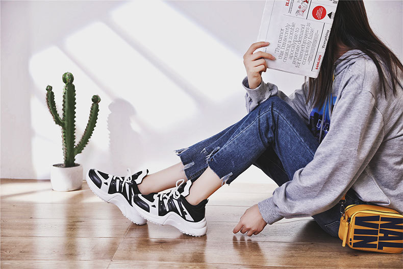 HTB1c6qzaaWs3KVjSZFxq6yWUXXaV - Fujin Sneakers Women Breathable Mesh Casual Shoes Female Fashion Sneaker Lace Up High Leisure Women Vulcanize Shoe Platform