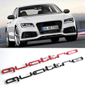For AUDI A3 A4 S3 S4 Q3 Q5 R8 RS Quattro Logo 3D Car Sticker ABS Stickers Black Decoration Auto Accessories Car-Styling