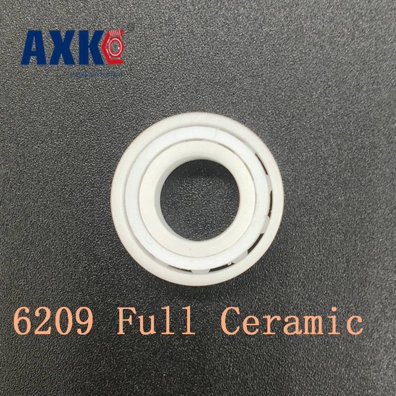 2018 Rushed New Rodamientos Axk 6209 Full Ceramic Bearing ( 1 Pc ) 45*85*19 Mm Zro2 Material 6209ce All Zirconia Ball Bearings