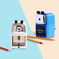 Deli 0620 Full Metal Shell Pencil Sharpener Machine Manual Pencil Sharpening Tool With Metal Bracket For