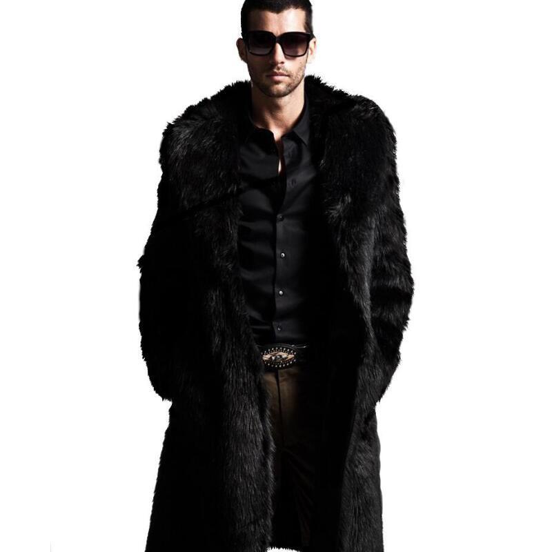 Online Get Cheap Black Fur Coat Men -Aliexpress.com   Alibaba Group
