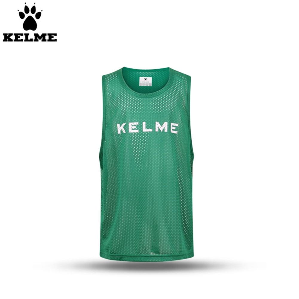 Destacamentos Colete Respirável Quick Dry Elasticidade K15Z247 KELME  Treinamento Crianças Camisas De Futebol Terno Basquete Verde b5e998c7ba734