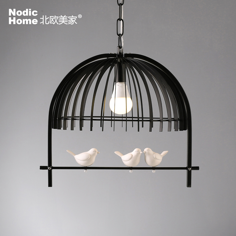 Nordic New RH Birdcage Pendant Lamp American Country Vintage Industrial Kitchen Lights Fixtures Modern Iron Luminaire 110v 220v american country vintage wall light nordic rh loft industrial decor e27 bedside lamp fixtures modern bathroom luminaire 110 220v