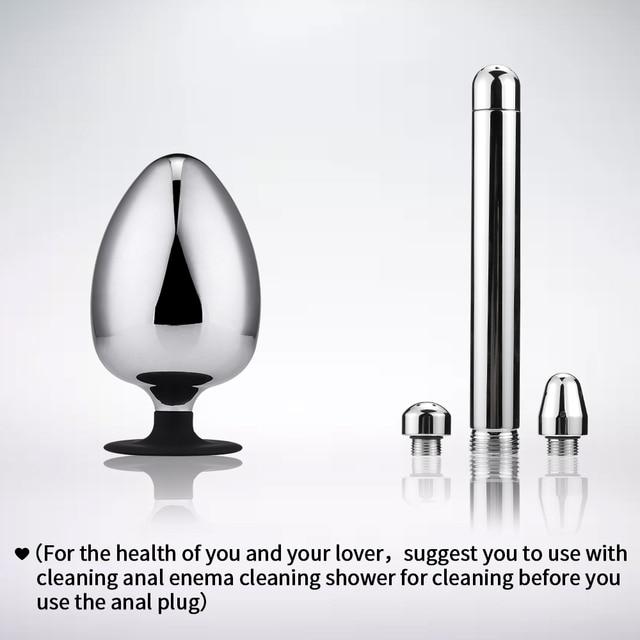 Extra big diameter dilatador anal expander metal buttplug adult sex toys masturbator large anal plug g spot butt plugs for women 5