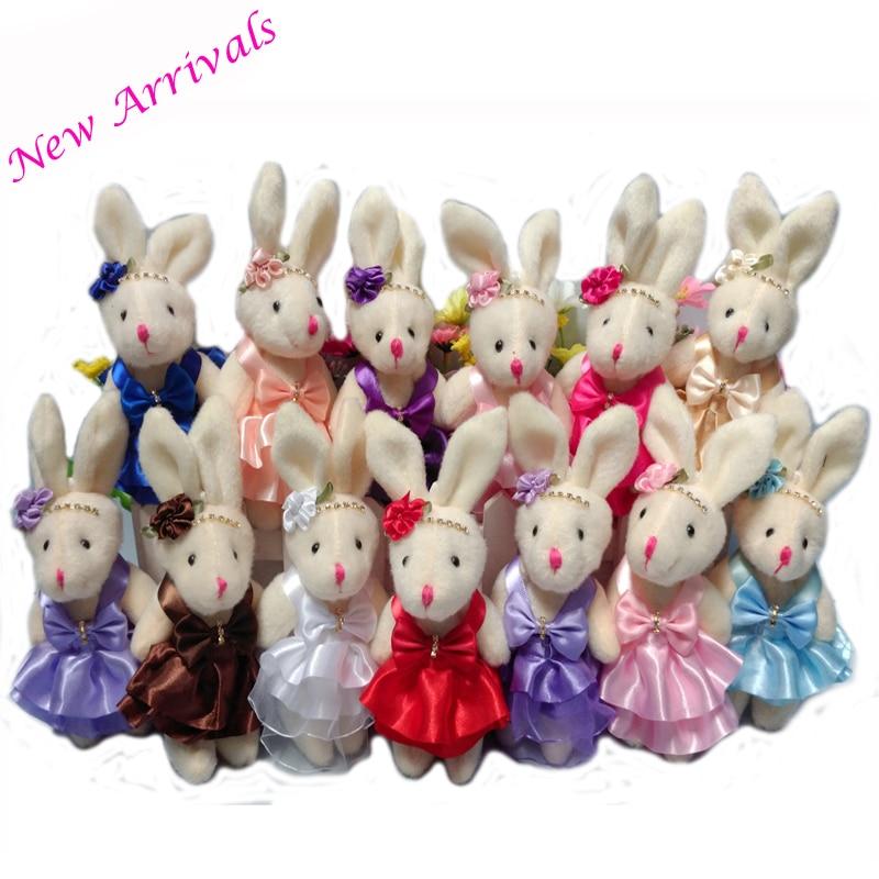 Jnj My Store >> NEW 15CM 10pcs/lot pp cotton kid toys plush doll mini small rabbit flower bouquets rabbit for ...