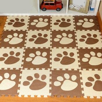 9 pçs eva crianças padrão impresso almofadas de espuma bebê quebra-cabeça tapete jogar tapete tapete hogard