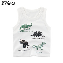 27kids 2-9Years Letter Hey Boys Hip-hop Vest Fashion Baby Infant Boy Tops Tees Waistcoat Cotton Children Kids's Clothing