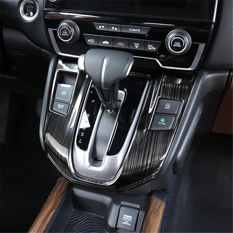 Look Interior Gear Panel Moulding Cover Trim Carbon Fiber For Honda CR-V 2017-18