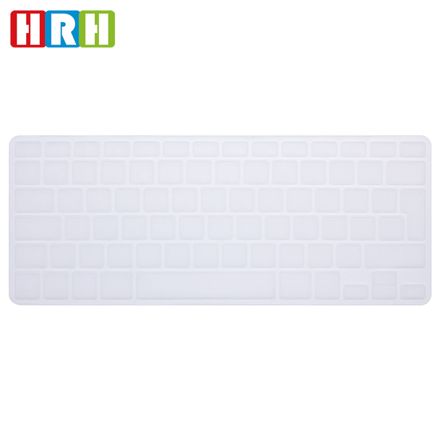 0c8af3e9282 HRH Transparent clear Silicone Keyboard Cover Skin sticker for English  French Spanish German UK/EU MacBook Pro air 13