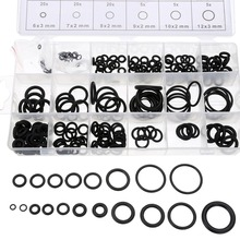 225pcs/lot Rubber O Ring O-Ring 18 Sizes Black Washer Gasket Sealing Ring Assortment Kit With Case цены онлайн