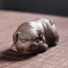 Cuddled Little Tea Table Piggy