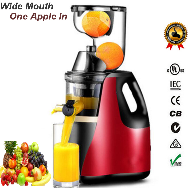 EU/UK/AU Plug Slow Juicer GERMAN Motor Technology New wide Large Mouth Fruit Vegetable Citrus Low Speed Juice Extractor whole slow juicer 300w 75 cm fruits low speed juice extractor juicers fruit machines