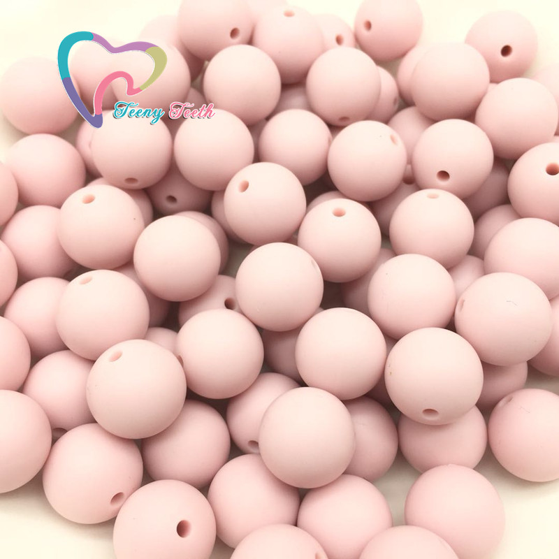 Beads Teeny Teeth 10 Pcs Pearl Blue Baby Accessories Beads Round Size 12-15mm Food Grade Teething Silicone Loose Bead For Diy Jewelry Beads & Jewelry Making