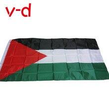 Xvggdg grande bandeira da palestina poliéster, 150x90cm gaza
