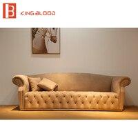 Ретро арабскими из нубука и пуговицы Честерфилд роскошные наборы диван