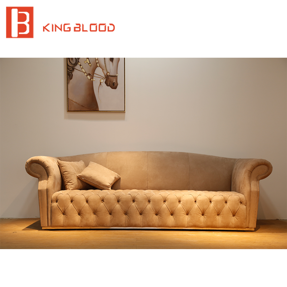 Retro Sofa Leather Us 3900 Retro Arabic Nubuck Leather Button Chesterfield Luxury Sofa Sets In Living Room Sofas From Furniture On Aliexpress Alibaba Group