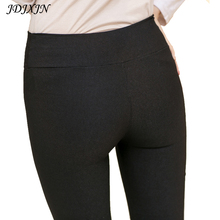 Slim elastic skinny pants fow women high waist casual female long legging trousers plus size black pencil pants womens JX459