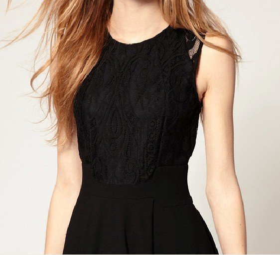 9005c85d64 women summer dress 2015 fashion lace dresses desigual vestidos high waist  sleeveless hot black dress free shipping-in Dresses from Women's Clothing  on ...