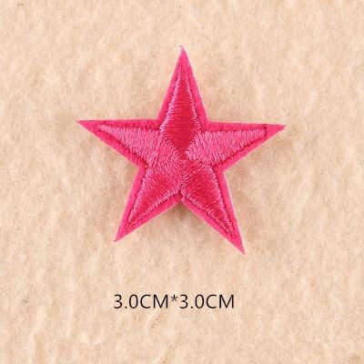 1 шт. смешанные нашивки со звездами для одежды, железная вышитая аппликация, милая нашивка эмблема на ткани, одежда, аксессуары для одежды DIY 61 - Цвет: 61Z7