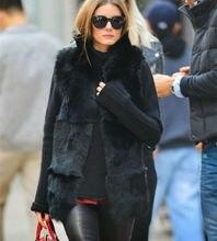 Phalinovic 2018 Women Fashion Fur Vest Long Lady Vests Winter Fall Jacket Waistcoat Black Color Plus Size 5XL Colete Feminino