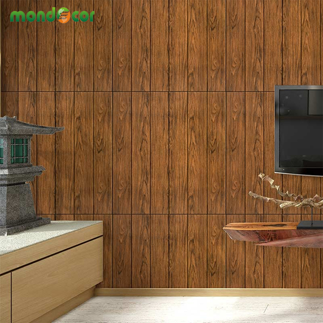 vintage wood grain self adhesive wallpaper waterproof wall stickers