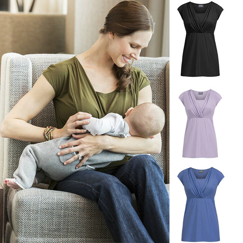 Women Pregnant Maternity clothes maternity dresses Mother Clothes Nursing Top Breastfeeding Loose Dress New S-XXL