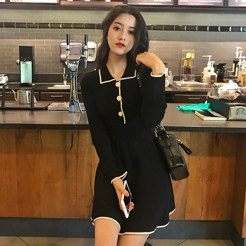Fat sized Women s Fat MM Autumn and Winter Dresses Skirt 2018 New Slim Fat Sister
