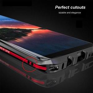 Image 4 - Luphie מעוקל מתכת פגוש עבור Samsung Galaxy הערה 9 מקרה הערה 8 עבור iphone X Xs Max Xr 8 7 בתוספת אולטרה דק אלומיניום מסגרת כיסוי