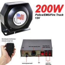 Policja ogień syrena Auto pojazd rogi 200W Alarm 8 dźwięk dźwięk głośnik ostrzegawczy głośnik 120-130dB
