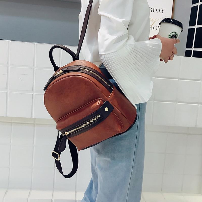 LEFTSIDE Fashion Women Small Backpack 2018 High Quality Youth PU Leather  Backpacks for Teenage Girls Female School Mini Bagpack 262246c54c0e7