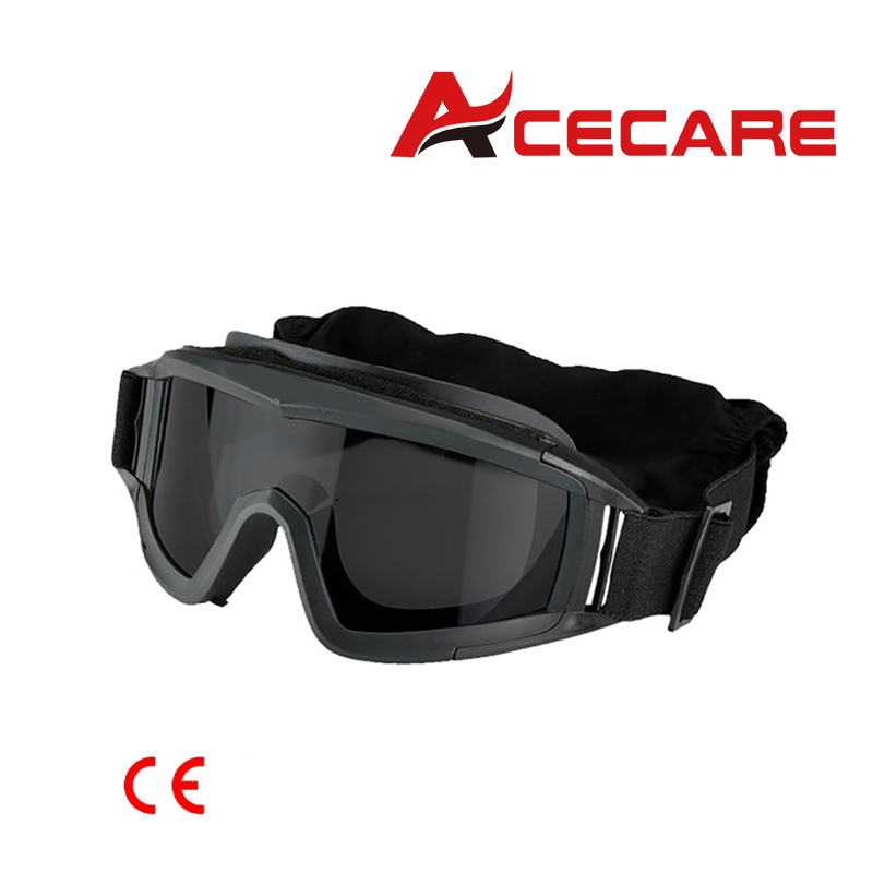 Acecare Paintball BB PCP Tactical SWAT Goggle Mask Eyewear Eye Protection With 3 Lens