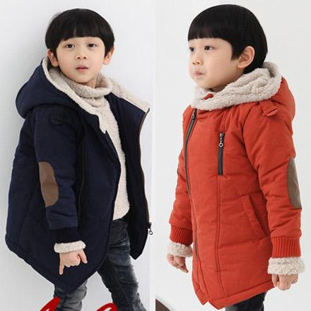Child Wadded Jacket Children's Clothing Thicken Cotton-padded Outerwear Patchwork Baby Clothing Kids Winter Clothes Snowsuit winter thickening wadded jacket 2016 clothing winter outerwear female child baby trench medium long child overcoat cotton padded
