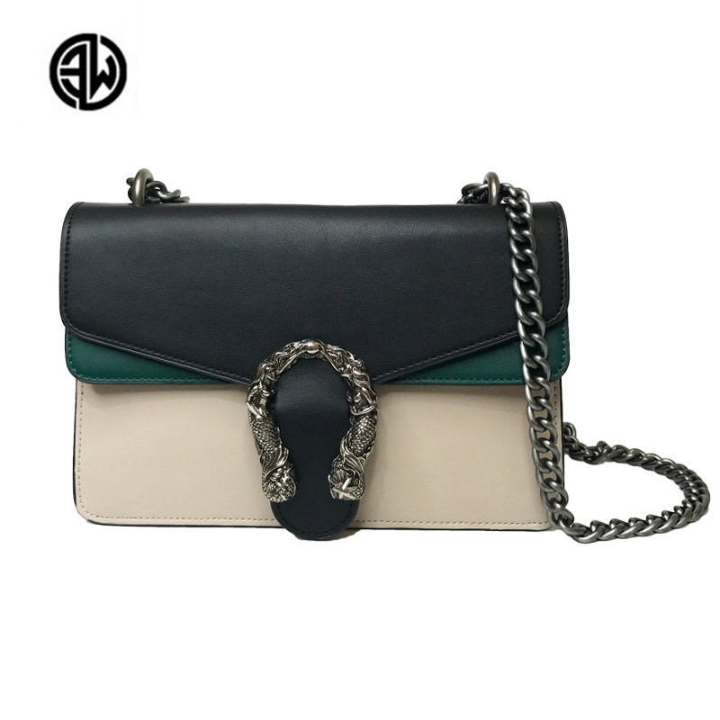 Luxury Brand Women Chain HandBag Patchwork Leather Handbag Clutch Purse Famous Designer Crossbody Bags Sac A Main louis gg bag fashion chain casual shoulder bag messenger bag luxury handbag famous brand women designer crossbody bags lady clucth sac a main