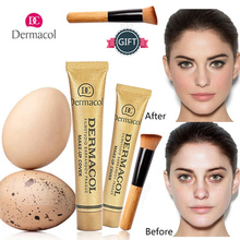 Authentic Dermacol Concealer Base Make up Cover 30g Primer Base Professional Face Dermacol Makeup Foundation Contour Palette