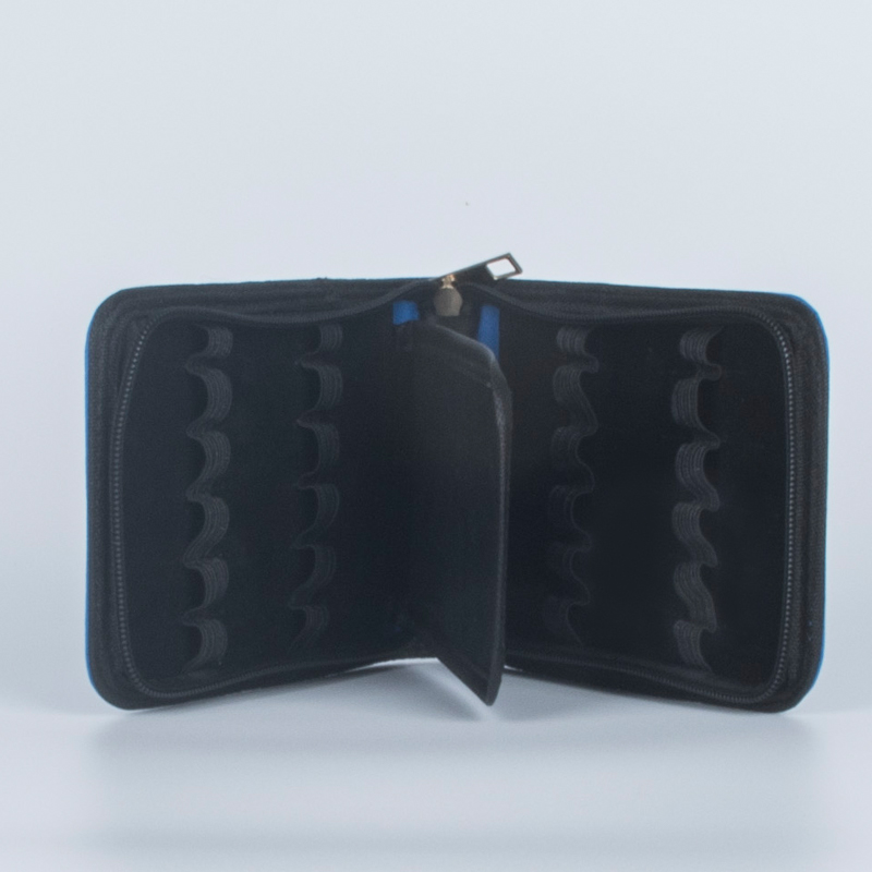 купить HIGH QUALITY LUXURY BROWN ROLLER AND FOUNTAIN PENS CASE blue HOLDER FOR 12 PEN по цене 560.79 рублей