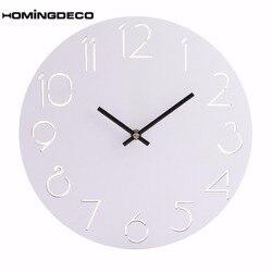 Homingdeco twórczy zegar ścienny okrągły prosty na ścianę zegary Home Decor francuski kraj toskański styl paryż drewniany wiszący zegar 2018