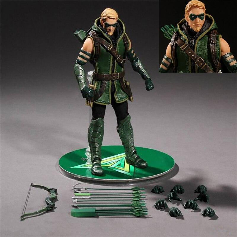 mezco dc comics green arrow um 12 pvc figura de acao collectible modelo brinquedo
