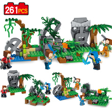 261pcs four in 1 My World Building block Bricks Model Action Figures Toy Compatible With Legoe toys for kids Gift