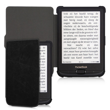 BOZHUORUI Magnetic Smart Cover Case fit Pocketbook 616/627/632 E-reader for Touch Lux4/Basic Lux2/Touch HD 3 PU leather