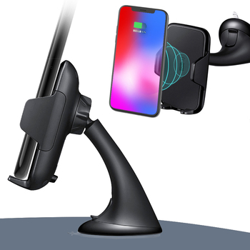 Black Multi-Funtion Qi Wireless Charger Phone Mount Holder Charging Car Charger For Iphone 8X Samsung Note8 S7 S8+ S9+ Fast держатель для смартфона с функцией беспроводной зарядки