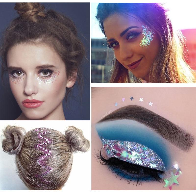 Festival Body Glitter Makeup Highlighter Hair Shimmer Tattoo Pigment 2