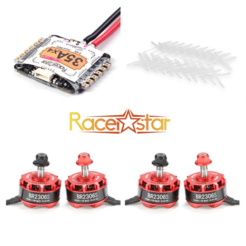 Racerstar BR2306S 2400KV Motor+Tatto35A 4in1 2-4S ST/ARM Blheli_32 ESC+5040 Propeller White for RC Racing Drones FPV Quadcopter блендеры philips ручной блендер электрический philips hr1627 00