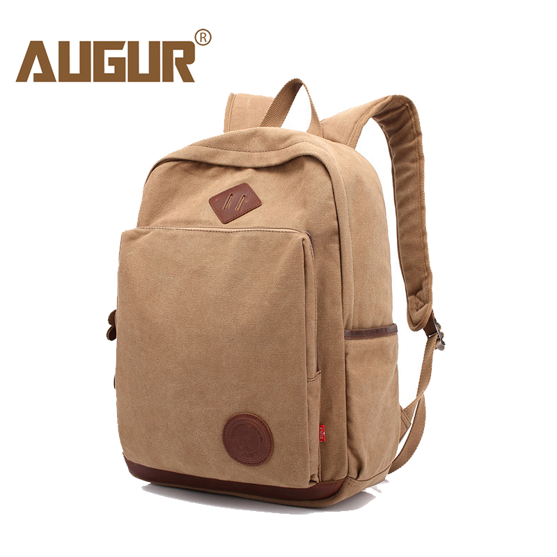AUGUR New Men Backpack Canvas School Bags 15.6 inch Laptop Bags for Teenagers Vintage Mochila Casual Rucksack Travel backpack gravity falls backpacks children cartoon canvas school backpack for teenagers men women bag mochila laptop bags