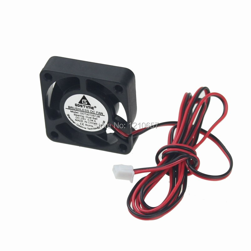 10Pieces lot Gdstime 1m wire 3D Printer Ball 24v Cooling Fan 40mm 40x10mm Extruder Electronics Prints