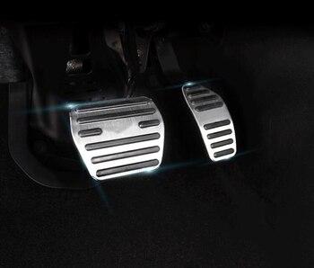 Accessoires de voiture en alliage d'aluminium de TTCR-II frein d'accélérateur de gaz coussinet de pédale antidérapant pour Renault Koleos 2017 2018 à coussinet modifié