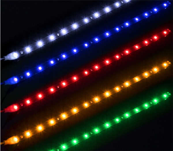 AUTO LED strip soft led AUTO strip 30cm Koplampen decoratieve strip bar blauw groen rood geel wit auto zacht licht strip dag licht
